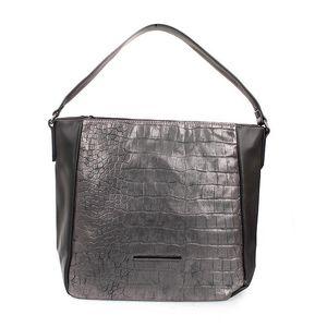 Dámská stříbrná kabelka s jedním uchem Sisley