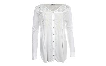 Dámská bílá dlouhá košile s perforací Angels Never Die