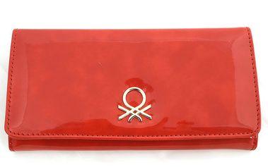 Dámská červená lesklá peněženka United Colors of Benetton
