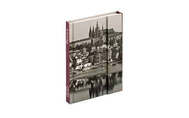 Prague, magnetic notes - 10,5x15,8 cm, linkovaný