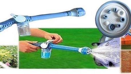 Víceúčelové tlakové vodní dělo vhodné nejen na zahrádku. 8 možností nastavení rotační trysky ,3 polohy nastavení průtoku vody. Vestavěný zásobník na čisticí prostředky, hnojivo atd.