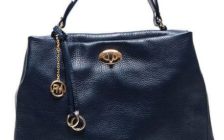 Dámská modrá kabelka s poutkem a zlatým zámečkem Roberta Minelli