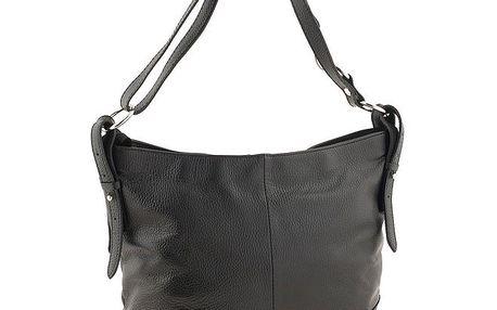 Dámská černá kabelka s ramenním popruhem Valentina Italy