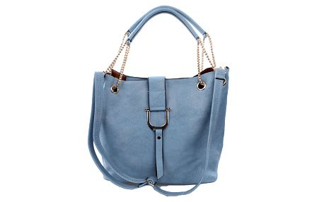 Dámská modrá kabelka s poutky na řetízku Bessie