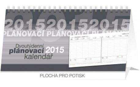 Plánovací 14denní, kalendář 2015, 33 x 16 cm