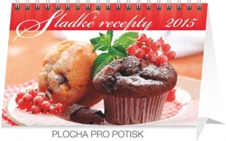 Sladké recepty, kalendář 2015, 23,1 x 14,5 cm