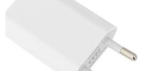 Síťová nabíječka s USB vstupem - bílá - dodání do 2 dnů