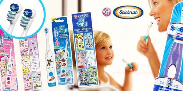 Elektrické kartáčky Spinbrush pro děti i dospělé