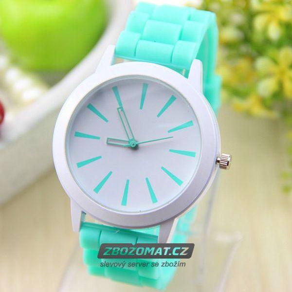 Barevné silikonové hodinky - jarní pastelové barvy!
