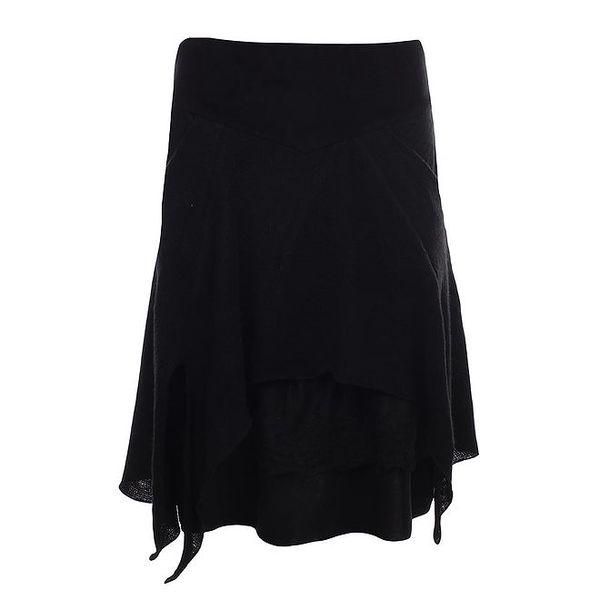 Dámská černá vrstvená sukně Angels Never Die