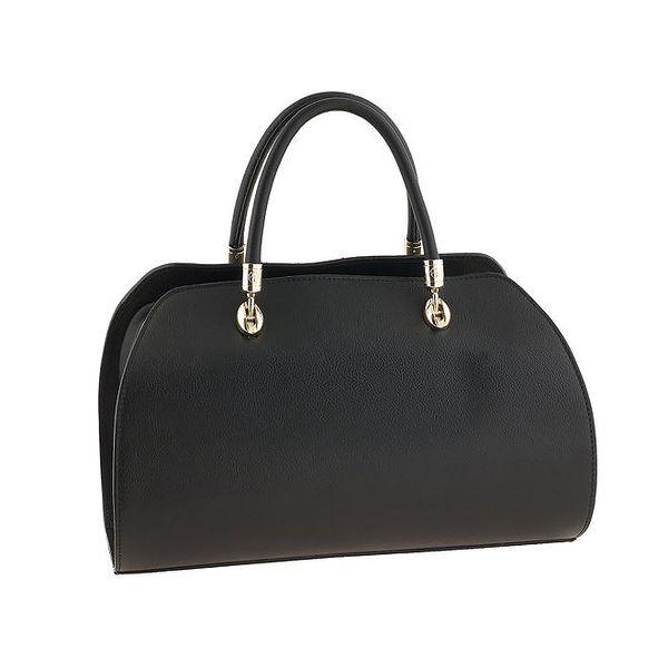 Dámská černá kabelka s kovovými prvky Valentina Italy
