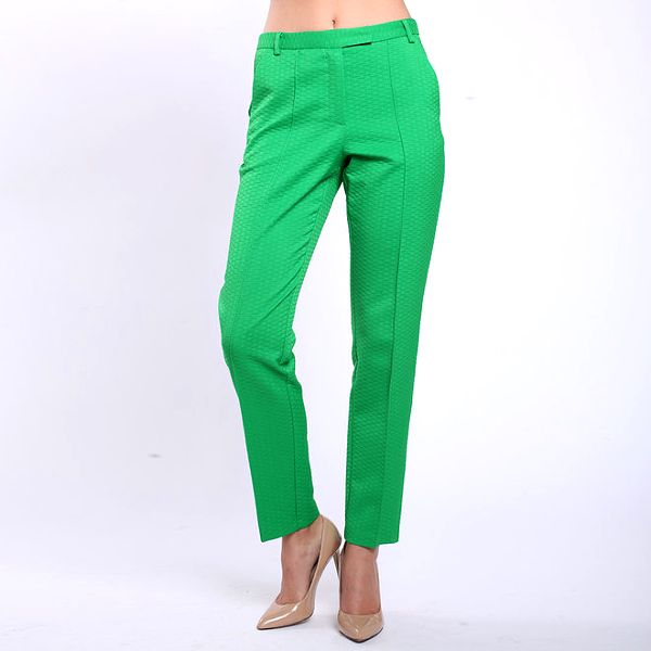 Dámské zelené kalhoty s puky Melli London