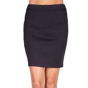 Dámská černá sukně na zip Sixie