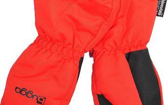 Delší zimní rukavice s kožíškem - červené