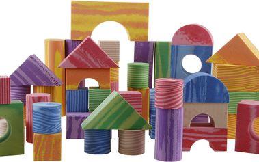 Pěnové kostky dřevěný design 100 ks od Alltoys