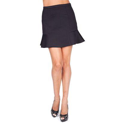 Dámská černá sukně s volánkem Sixie
