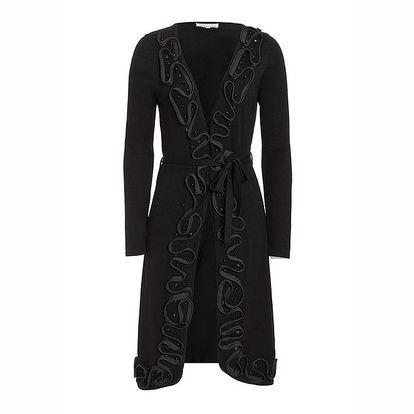 Dámský svetříkový kabátek v černé barvě Imagini