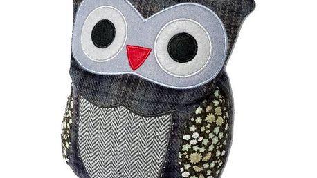 Plyšová hračka Albi Hooty sovička hřejivá patchwork fialová
