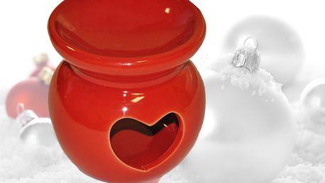 Červená aroma lampa