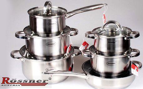 12dílné indukční nerezové nádobí s keramickou pánví