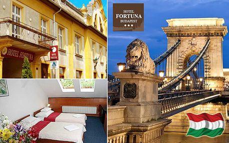 Hotel Fortuna Budapest*** se snídaní nedaleko centra