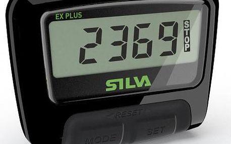 Kompaktní, lehký a snadno použitelný krokoměr Silva EX PLUS (S14) Black