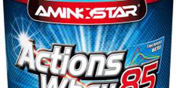 Doplněk stravy Aminostar Whey Protein Actions 85% 1000g -čokoláda, podporující tvorbu svalstva