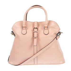 Dámská kožená kabelka ve světle růžovém odstínu Belle & Bloom