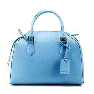 Dámská blankytně modrá kožená kabelka Belle & Bloom