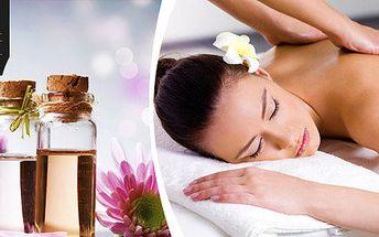 Relaxační aromaterapeutická masáž ve studiu Etage Face & Bodyline