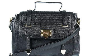 Dámská kožená kabelka v černé barvě Belle & Bloom