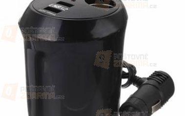 Cigaretový zapalovač s 2 USB porty do autozapalování a poštovné ZDARMA! - 9999916327