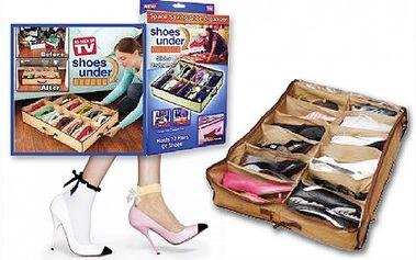 Pořiďte si praktický úložný botník, který ušetří mnoho místa a pomáhá udržovat pořádek v domácnosti. Až 12 párů bot v jednom skvělém skládacím Boxu na zip, jen za 89 Kč!!!