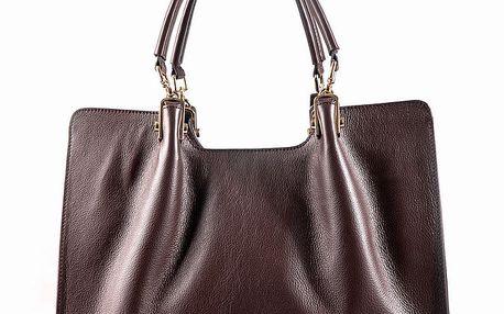 Dámská hnědá kožená kabelka Belle & Bloom