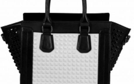 Dámská kabelka Anna 038A černobílá