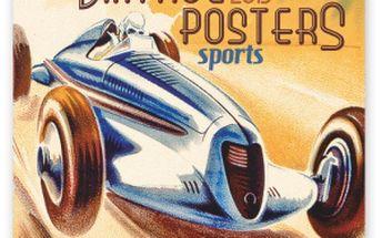 Plakáty - sport, poznámkový kalendář 2015, 30 x 30 cm