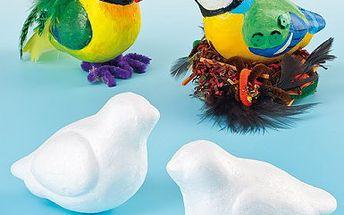 Polystyrenoví ptáčci na dobarvení