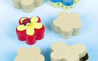 Kartonové krabičky k dokončení – motýly, květiny