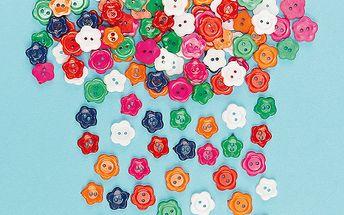 Květinové knoflíky, 200ks