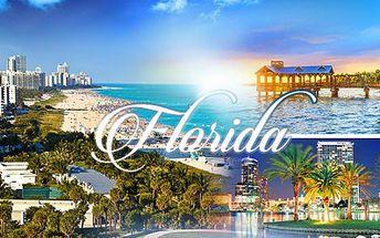 15 dní na FLORIDĚ! Letenka, ubytování, půjčení auta a výlet do Mexického zálivu za 33.900 Kč!
