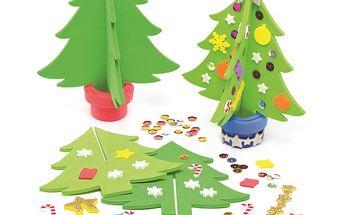 Sada k výrobě 3D vánočního stromku pěnového (4 ks)