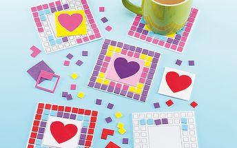 Sada k výrobě mozaikového tácku se srdcem