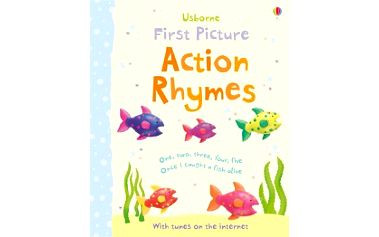 Action Rhymes Veselá a živá knížka s 11 tradičními básničkami a písničkami