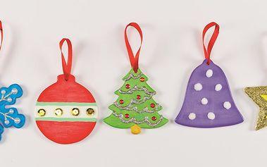 Vánoční keramické dekorace (5ks)