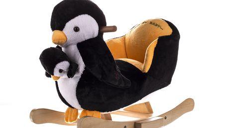 Krásné houpací křesílko - Tučňák + malý tučňák
