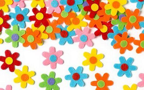 Samolepící plstěné květiny