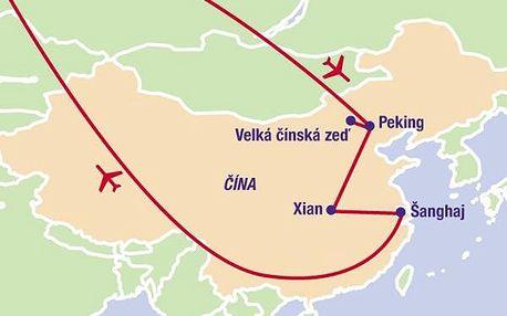 To nejlepší z Číny, Asie, Čína, letecky, strava dle programu