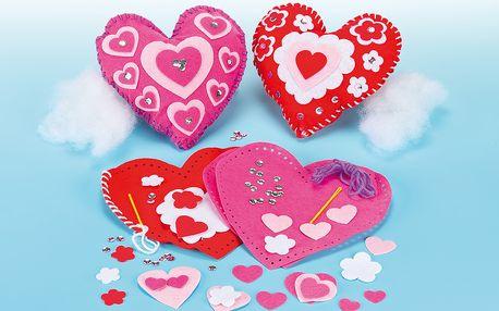 Polštářek srdce – šitíčko