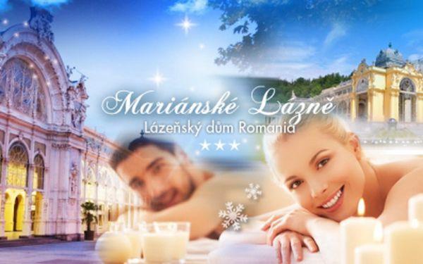 Mariánské Lázně, Hotel Romania*** a WELLNESS pobyt pro dva s POLOPENZÍ a až 11 PROCEDURAMI!