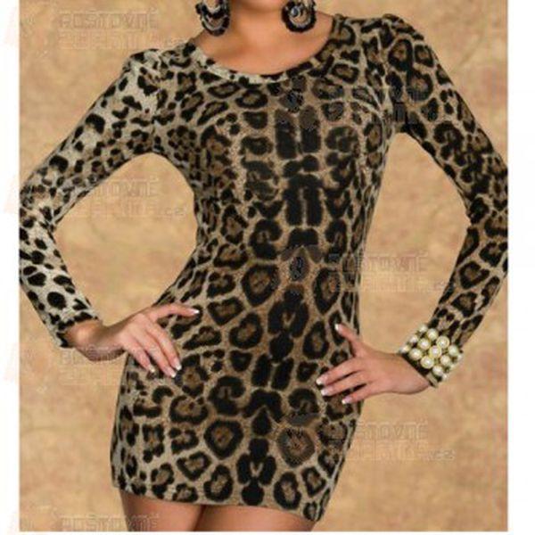 Proudloužené elegantní tričko s leopardím vzorem a poštovné ZDARMA! - 9999907290